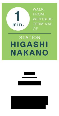 お店の場所 JR東中野駅西口、都営地下鉄大江戸線東中野駅(A3出口)より徒歩1分。二輪車の駐輪も可能です。